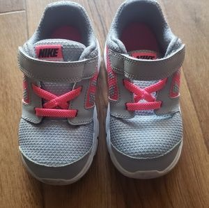 Nike Toddler Girl Hot Pink and Gray Shoes